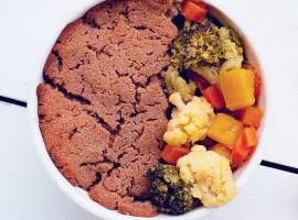 Овощной пирог с гречневой мукой